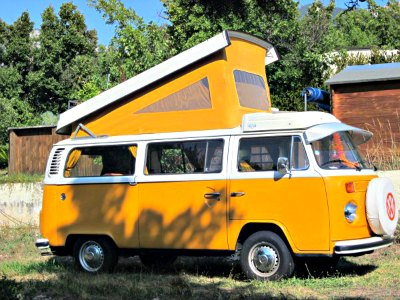 The original Volkswagen-Westfalia pop top camper van roof design.