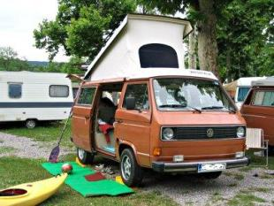 Westfalia pop top roof on the VW Joker or Vanagon. & Pop Top Camper Van - The All Purpose Camper Van Conversion