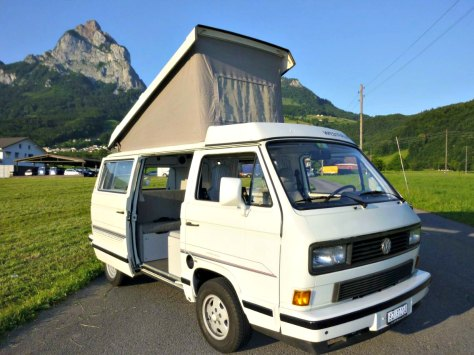 One of the last models of the Volkswagen T3 California, before the brand new VW T4 rolled out.