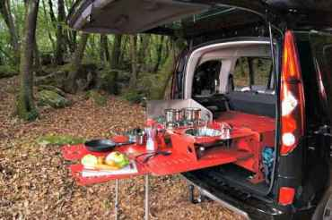 Swiss Camping Box modular system for mini campers.