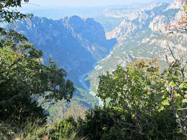 The Verdon Gorge from the top of the road. It's quite scary at times!