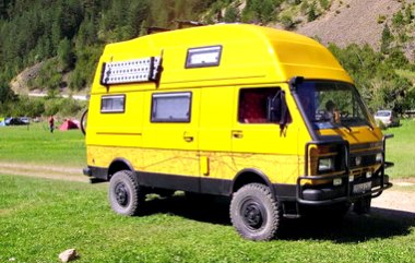 Volkswagen LT 4X4 camper van conversion from the 1980's