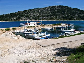 Small fishing port in Croatia.