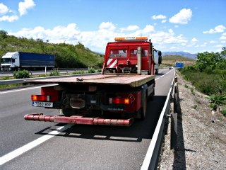 Tow truck in Spain.