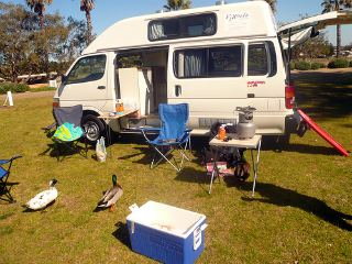 A typical camper van rental from Australia