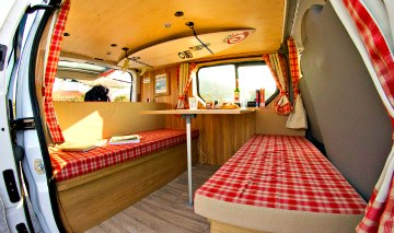 Travel van interior lounge...
