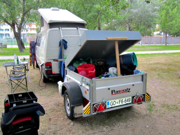 My Pongratz Cargo trailer for our camping gear