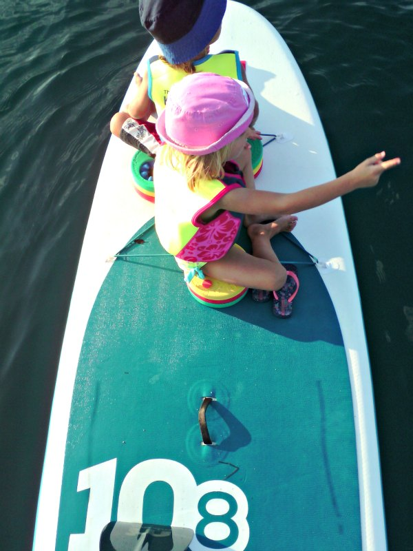 A personal flotation device is a must sometimes even on a SUP!