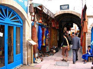 The streets of Essouira, Morocco.