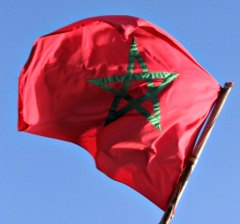 Morocco flag waving proud.