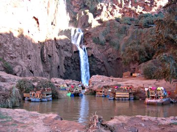 Ouzoud waterfall are just a short drive from Marrakesh, Morocco.