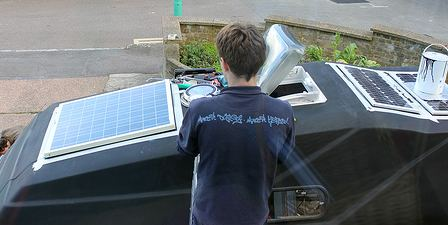 Rv solar power on a camper van