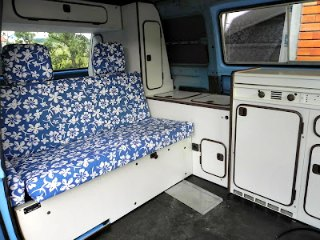 Bought on eBay. Used Volkswagen camper furniture.
