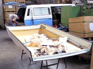 Sourced out on eBay. A used westfalia camper roof for Volkswagen camper homemade project.