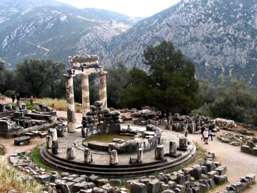 Delphi, worshiping the god Apollo...