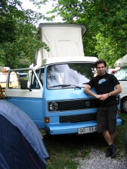 Proud owner of a Volkswagen camper van