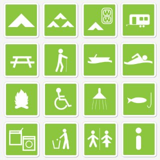 Wheelchair accessible camping signpost