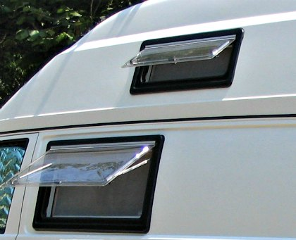 Seitz windows, different sizes will fit most camper vans
