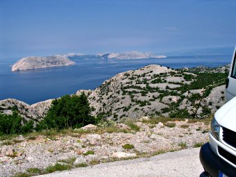 Traveling on the Adriatic coast, Croatia.
