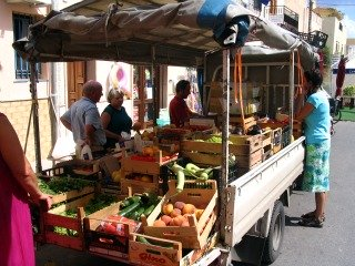 Fruit & vegetable  truck in Sicily.