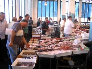 Fish market in Sicily.
