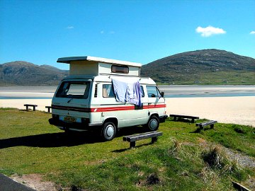 Volkswagen T25 camper van on the Isle of Lewis, Scotland, by John Millar.