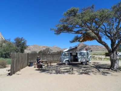 Typical camping in Namibia