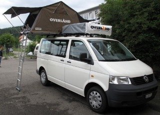 Volkswagen Transporter with two Autohome roof top tents. & Roof Top Tent Van Camping