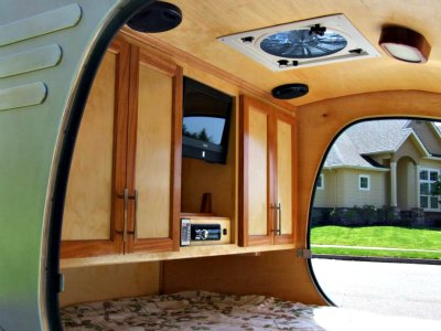 oregon trailr frontear teardrops comfortable living space - Small Camper Trailer
