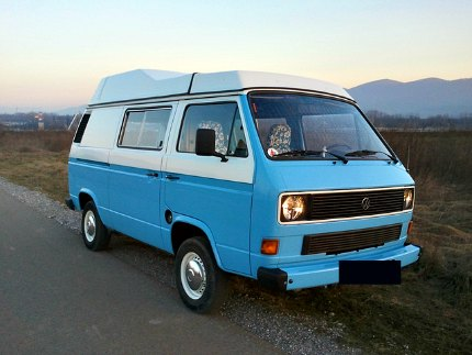 A homemade camper van project build by using used camper parts.