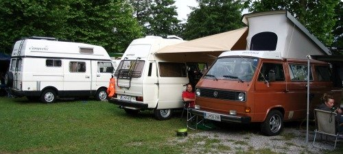 Westfalia camper vans meeting.